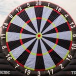 Ballseye Football Darts in Newquay