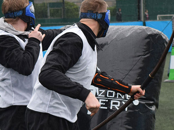 Glasgow Stag Do in Battlezone Archery Tag