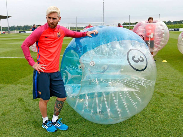 Marbella Stag Do in Bubble Football