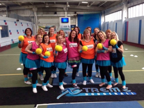 Newcastle Hen Do in Disco Dodgeball