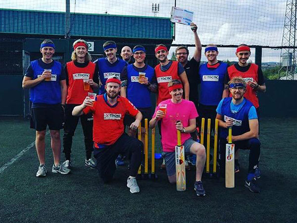 Manchester Team Building in Turbo 10 Cricket